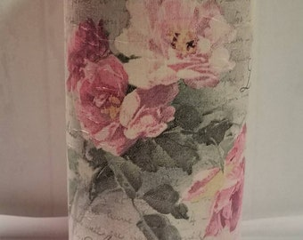 Chalk paint and Decopauge rose vase