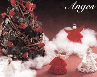 Patron de crochet - Ange pour décoration d'arbre de Noël