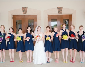 RESERVED for Rebecca Lewis - 1 Navy Convertible Dress and 2 Bandeaus