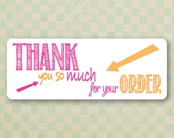 Thank You Stickers | Set of 30 | Glossy Labels | Thank You Labels | Glossy Stickers | Handmade Labels | Thank you so much for your Order