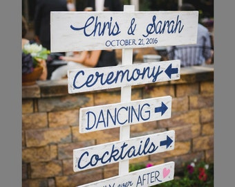 Wedding Directional Sign, wooden sign