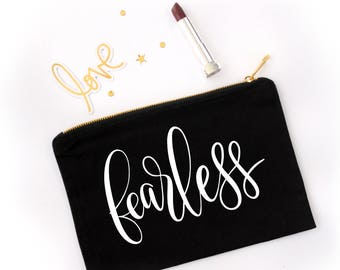 Handlettered Word of the Year - Cosmetic Bags
