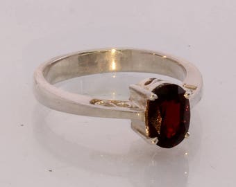 Burma Red Spinel Handmade Sterling Silver Ajoure Filigree Ladies Ring size 9.5