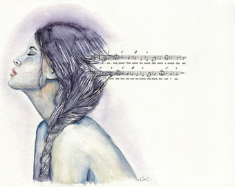 Amazing Grace - ART PRINT 8 x 10 | Watercolor by Ruth Oosterman