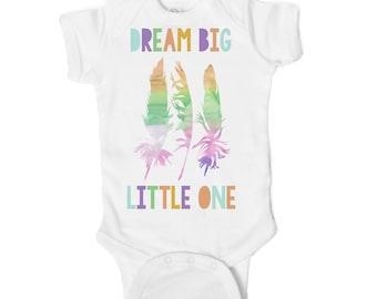 Dream Big Little One Baby Onesie