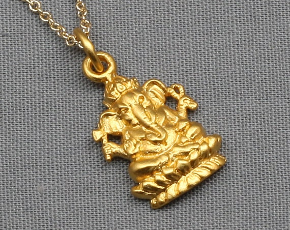 Ganesh necklacegold24k gold vermeil buddha jewelrybuddhist zoom aloadofball Image collections