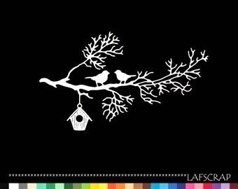 Cut branch tree birds nest scrapbooking embellishment die cut scrap album animal deco paper