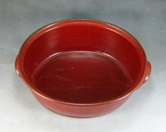 Pottery Casserole Dish Small Red Ceramic Oval Casserole Hand Thrown Stoneware Pottery 2