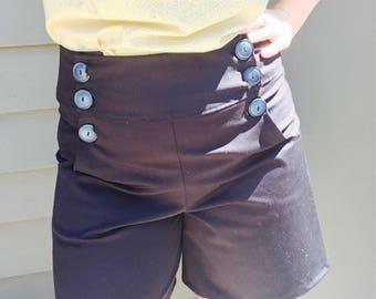 Sailor shorts, waist shorts, vintage shorts