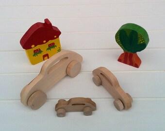 Wooden toys on wheels - VW Beetle