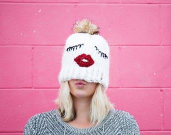 Lips N Lashes Beanie