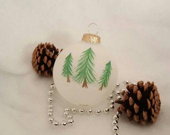 Woodland Trees Christmas Ornament SET, Handmade Christmas Ornaments, Rustic Ornament, Primitive, Xmas, Personalized, Christmas Ornament