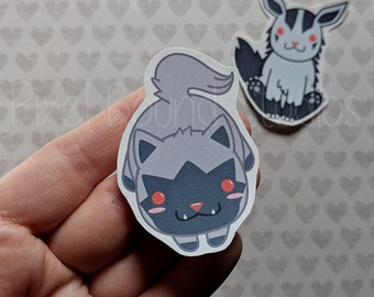 Poochyena/Mightyena Stickers and Magnets