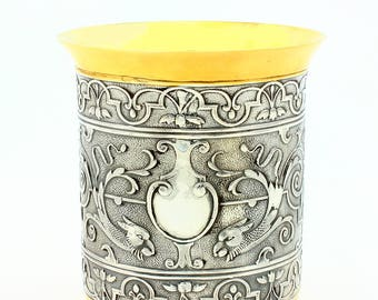Silver glass with Dragon
