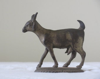 Goat Cast Iron miniature on a stand: small