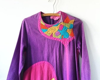 20% OFF SALE Vintage 60s JOSEFA  Mexican Embroidered Kaftan, Josefa Mexican Caftan