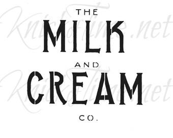 Milk and Cream Co. Dairy Sign Stencil - Dairy Sign, Farm Sign, Farmhouse Sign Vintage Sign Stencils