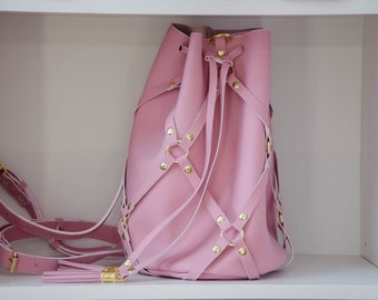 Stylish pink backpack | Bag backpack | a bag | backpack | leather backpack |