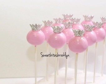Princess Tiara Cake pops/Pink/Birthday/party/Favor/Princess party/Baby Girl