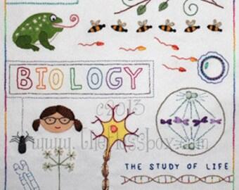 Biology Sampler Embroidery Pattern