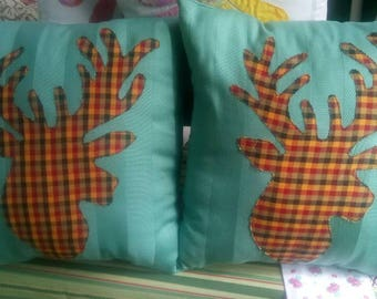 Decorative stag head cushions