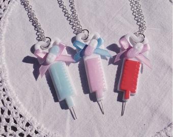 Glitter Injections necklace menhera yumekawaii hospital