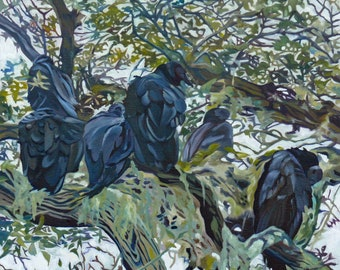 Haven, Vultures and Live Oaks of Florida Fine Art Painting