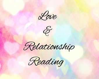 Love & Relationship PSYCHIC READING, Intuitive Tarot or Oracle Card reading