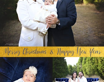 Christmas card, holiday card, Family