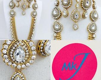 Necklace/Rani Haar, Earrings and Tikka Set