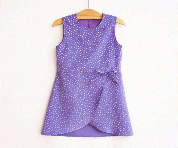 Sabrina Girl Dress Sewing Pattern Pdf Easy Wrap Over Dress
