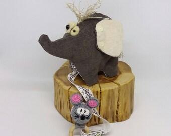 Elephant baby toy/amigurumi elephant amigurumi/soft toy elephant softie/soft quiet elephant dolls/stuffed toy elephant plushy/plush elephant