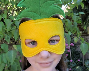Pineapple Mask - Fruit Mask - Costume Mask - Masquerade - Mardi Gras - Halloween Mask - Dress Up