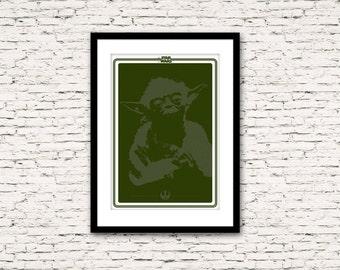 Star Wars Poster Series Master Yoda 16 x 24