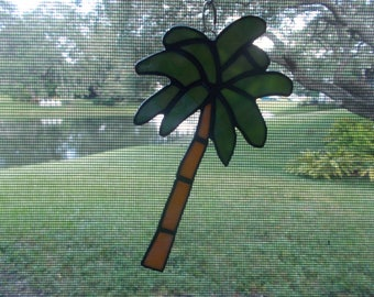 Stained Glass Palm Tree Suncatcher