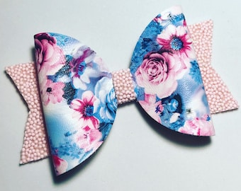 Floral Medium Hair Bow