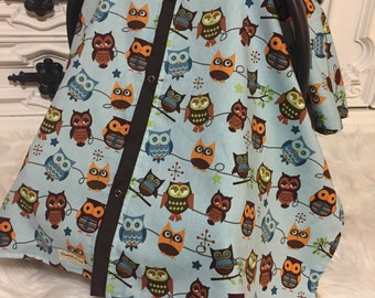owl car seat cover / carseat cover /carseatcover /carseat canopy / owl / boy car seat canopy
