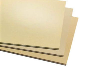 "9 Pack 2""x2"" Jewelers Brass Sheet Metal,  Blanks, Stamping, Choice of Gauge, Supplies, Findings, Metal Work"