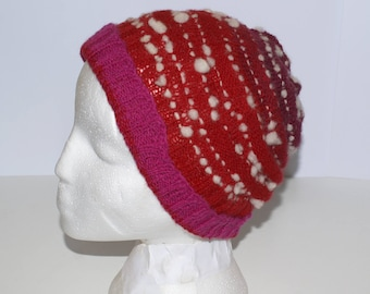 Merino hand spun gradient Red Hat