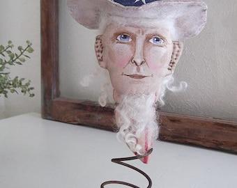 Primitive Folk Art EPattern - BR211E - Americana Uncle Sam PDF