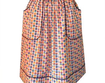 Multicolored patterns cotton skirt