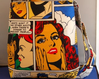 Comic Shoulder Bag Women's Handbag Handmade