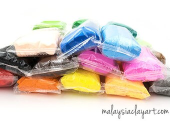 24 colors super light air dry clay with free tools and accessories, non baking clay