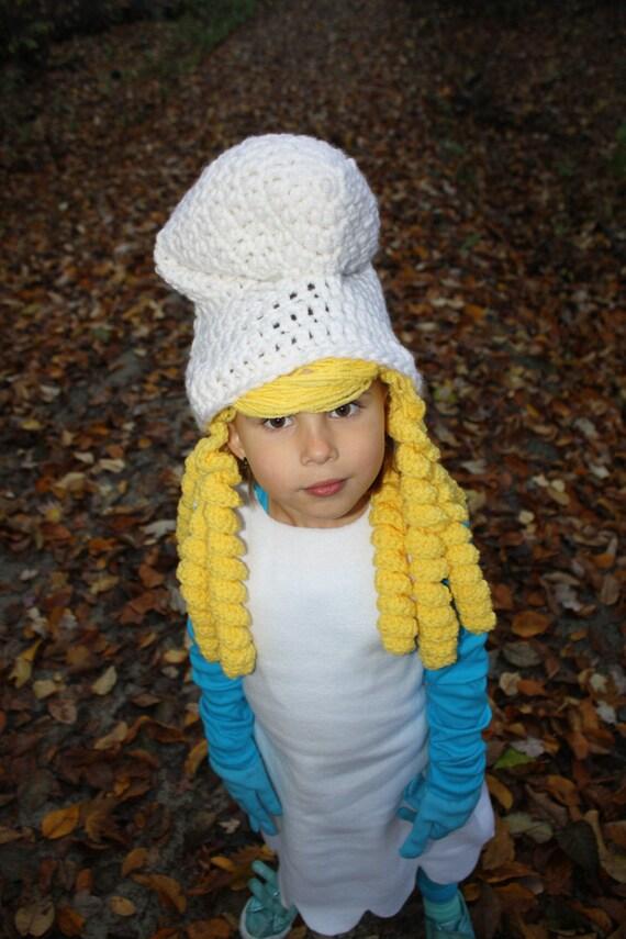 Smurf Smurfette EASY Crochet Hat PDF Pattern Size Child & Teen/Adult ...