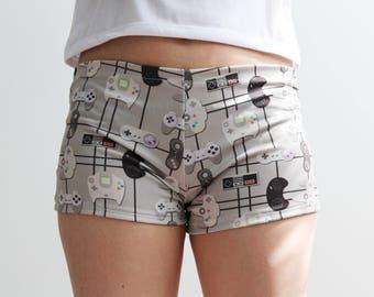 Gamer Geek Lounge Shorts, Yoga Shorts, Activewear, Gamer Shorts, Gym Shorts, Video Game Controllers, Geek clothing