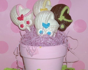 Chocolate Baby Carriage Lollipops