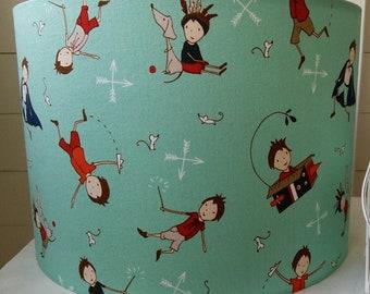 NEW Handmade Aqua Children's Drum Lampshade