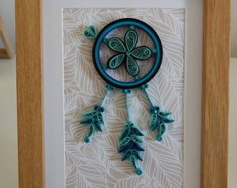 Quilling dream catcher wall decor, gift for her, housewarming, birthday, anniversary, home decor