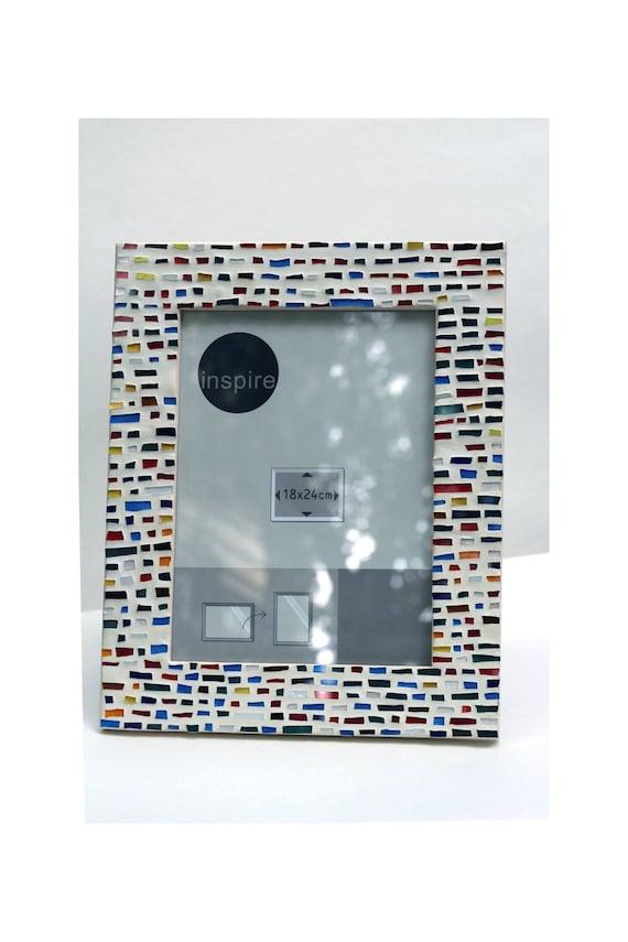 Beige Multi Farbe Mosaik Rahmen Glasmalerei Mosaik Wand Dekor