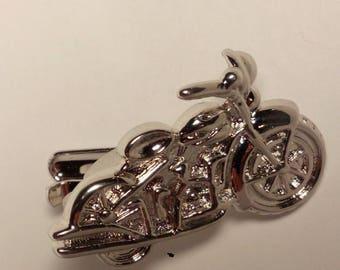 Tie clip, custom, motorcycle